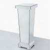 Mirrored Pedestal Plant Lamp Stand