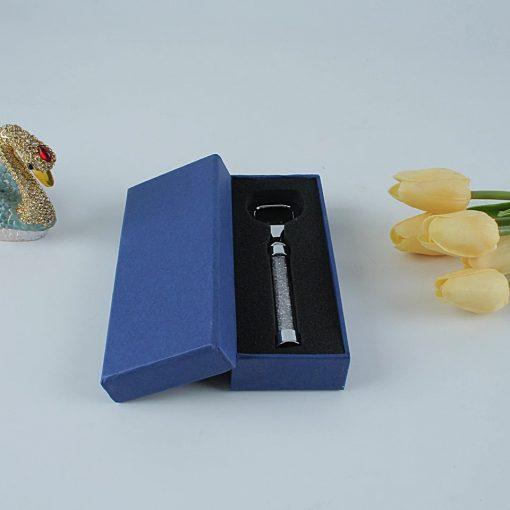 Bottle opener with Swarovski Crystals