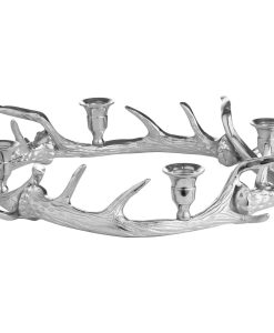 Table Centrepiece Circular Antler Candelabra With Four Candle Holders