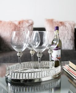 Set of 4 Wine Glasses with Swarovski Crystal Elements