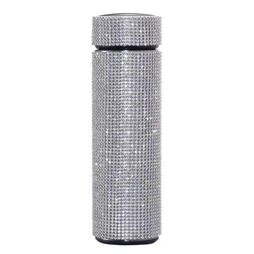 Digital Thermos Flask with Swarovski Crystal Elements