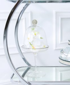 Glass Cake Dome with Swarovski Crystal Ball Decoration