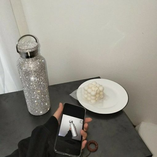 Re-usable Stainless Water Bottle with Swarovski Crystal Elements
